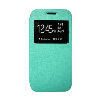ZAGBOX Flip Cover Casing for Samsung A9 Pro - Hijau