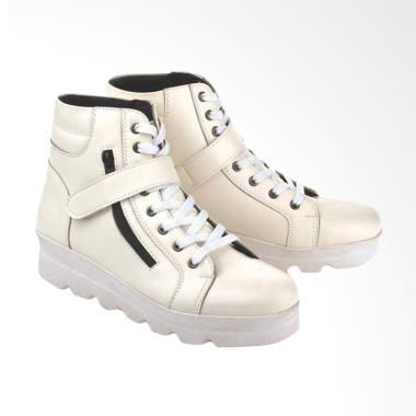 BlackKelly A200 Fashionable Women Docmart Boots Synthetic - White