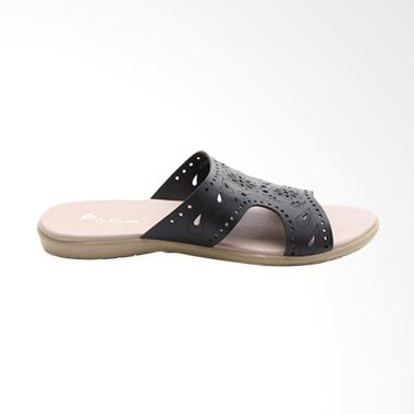 Dr.Kevin Ladies Flat Sandals 27335 Hitam