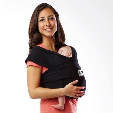 Baby K'Tan Baby Carrier Original Basic Black | Size XS | Gendongan Bayi