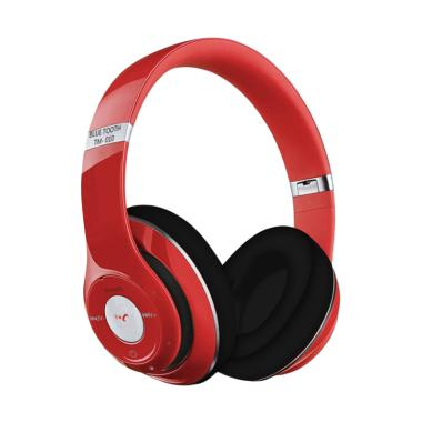 harga Headset TM-010 Studio with Fm Radio Bluetooth Headset - Merah Blibli.com