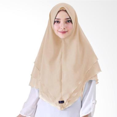 Milyarda Hijab Syari Khimar Alndra Hijab Instan - Coklat Susu