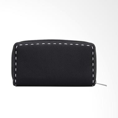 Bonia Bianca Zipper Wallet - Black