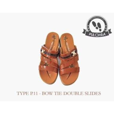 harga Elegan Sandal Wanita Bow Tie Double Slide Type P.11 Limited Blibli.com