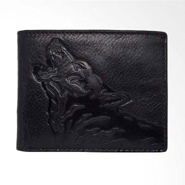 Fossil Tundra Traveler Wallet Pria - Black SML 1496001