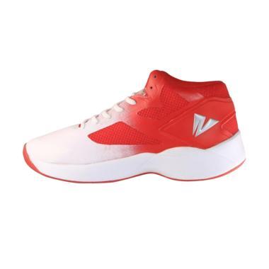 2BEAT Wolves Sepatu Basket Pria - Red White 104002 616