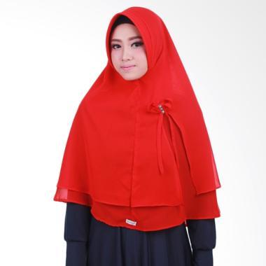 Atteenahijab Khimar Nazeefa Jilbab Instant - Light Red