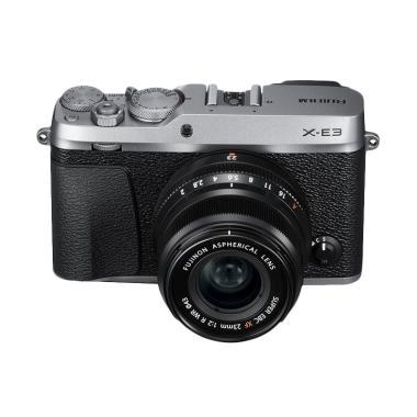 harga Fujifilm X-E3 Kit 23mm F2 Kamera Mirrorless - Silver + Sandisk Sd Extreme 32 Gb + Flash EFX 20 Blibli.com