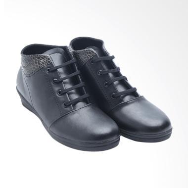 Dr.Kevin Leather Sepatu Boot Wanita - Black 4015