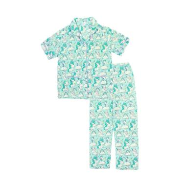 Papeterie PJ015 Baju Tidur Setelan Piyama Anak Perempuan