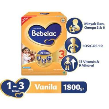 BEBELAC 3 Vanila Susu Formula Box 1800 g