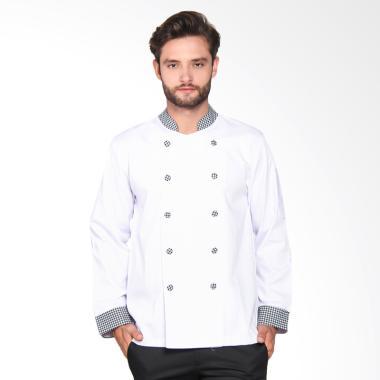 Chef Series Pearl Series Tangan Pan ... i - Putih Hitam [Size XL]