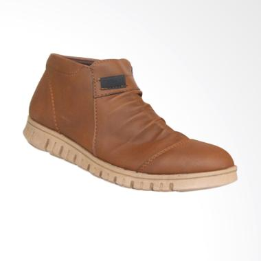 Frandeli Anthonio Zipper Original Sepatu Pria - Brown