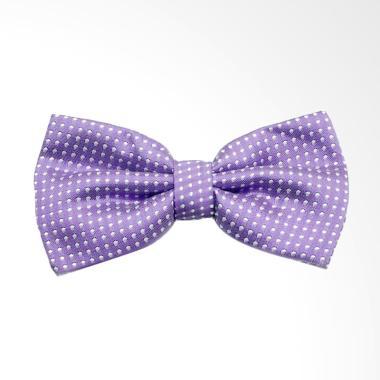 The Cufflinks Store Small Polkadot Bowtie Tekstur Dasi Kupu Kupu Pria - Purple
