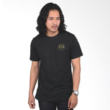 Catenzo Kaos Pria T-Shirt - Black PS 147