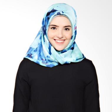 Rauza Rauza Splash Midi Hijab Square - Blue Coral