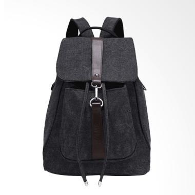 Martin Versa TRW5 Kanvas Backpack Ransel Wanita - Black