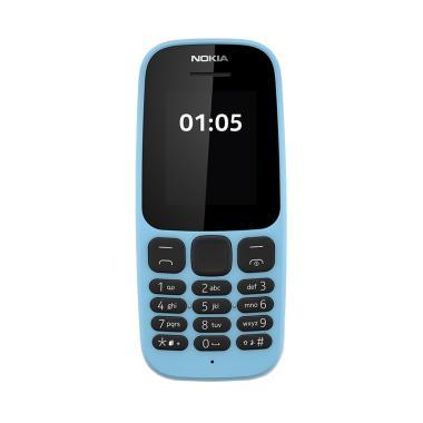 Nokia 105 Handphone - Blue [Dual Sim]