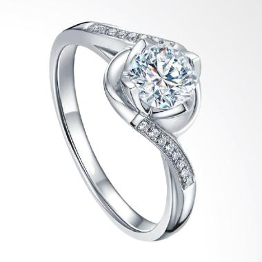 Tiaria Flower and Twig Ring Cincin Tunangan Emas Berlian [0.05 Carat]