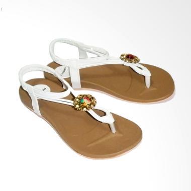 Anneliese Sandal Flat Wanita ai 02 White