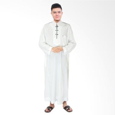 Okechuku Jubah Africani Pakaian Gamis Pria - Putih