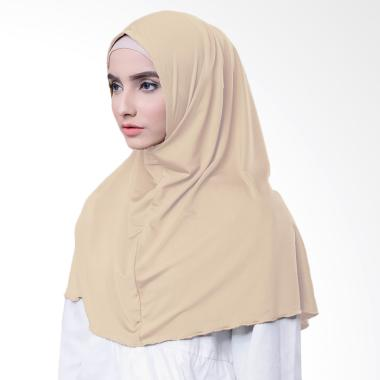 Najwa Hijab Kaos Katun TC Premium Jilbab Instan - Mocca