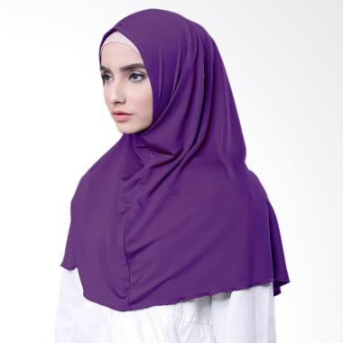 Najwa Hijab Kaos Katun TC Premium Jilbab Instan - Ungu