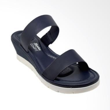 Bata Ladies 6919121 Cynth Sandal Wadges Wanita - Blue Navy