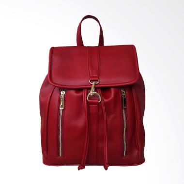 Olivia Backpack Tas Ransel Wanita - Merah Tua