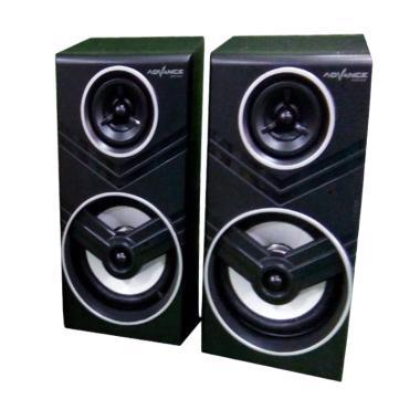 Advance Speaker Duo - 080 With Volume Control - Hitam