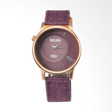 MILER WAT1729P Luxury Ladies Leathe ... am Tangan Wanita - Purple
