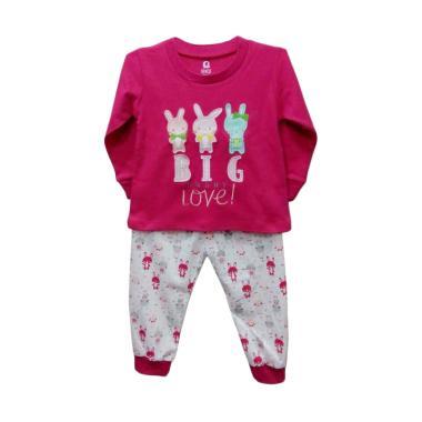 Gracie Motif Bunny Baju Tidur Anak Perempuan - Fuschia