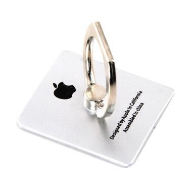Ring Hook Branded Stand Holder for Smartphone Apple - Silver