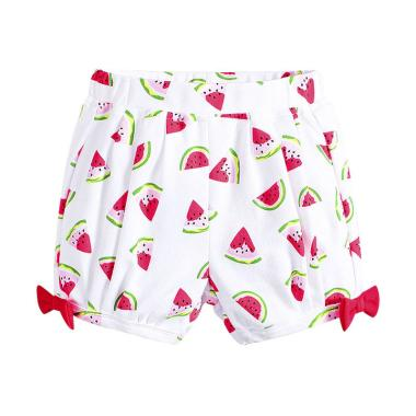 Mom n Bab Short Pants White Watermelon Celana Anak Perempuan