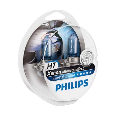 PHILIPS BLUE VISION ULTRA H7 (4000K) - LAMPU HALOGEN