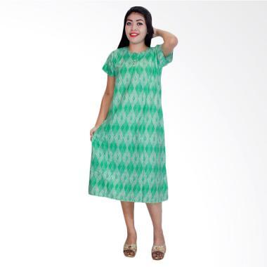 Batik Alhadi DPT001-12C Daster Kancing Baju Tidur Lengan Pendek