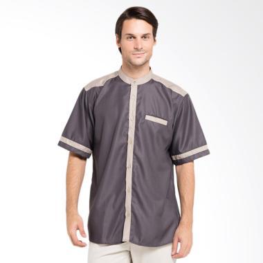 Allev Imran Shirt Baju Koko Pria - Abu Mocca