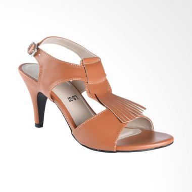 Lakeisha H_08_17 Tulip Sepatu Heels Wanita - Brown