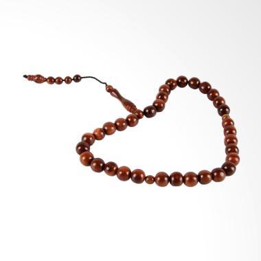 Kayu Kokka 33 Butir Tasbih Gelang Wanita - Brown