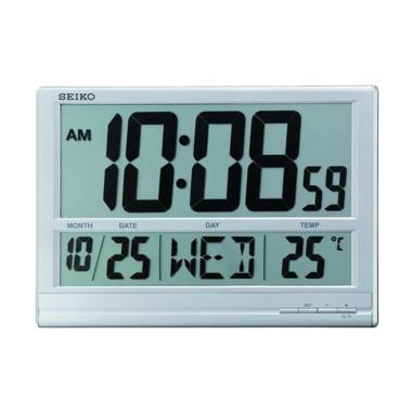 Seiko QHL056S Digital Wall Clock - Silver [38 cm]
