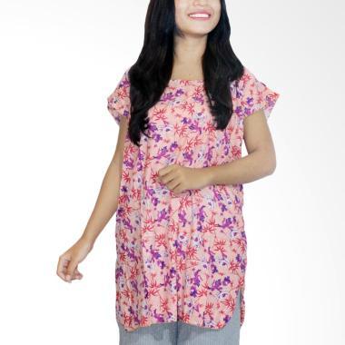 Batik Alhadi BPT001-06B Blus Batik Piyama Baju Tidur - Orange