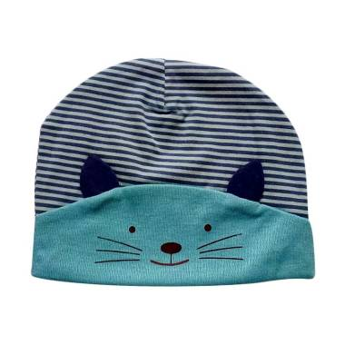 Mom 3D Kitty Topi Baby - Blue