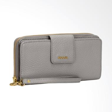 Fossil SWL 1575020 Madison Zip Clutch Dompet Wanita - Grey