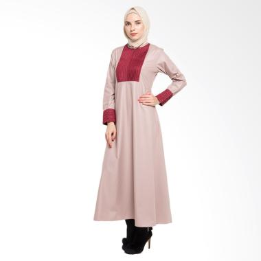 Allev Maimana Abaya Baju Muslim - Cream
