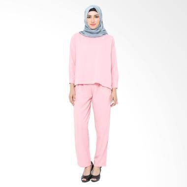XQ Jenna Setelan Pakaian Muslim Wanita - Pink