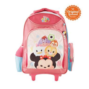 Disney Tsum Tsum Trolley Bag Tas Sekolah Anak - Pink