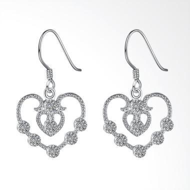SOXY LKNSPCE810 New Exquisite Fashion Heart Shaped Diamond Earrings