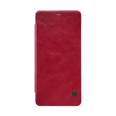 Nillkin Flip Qin Leather Casing for ... y A8 Plus 2018 Duos - Red