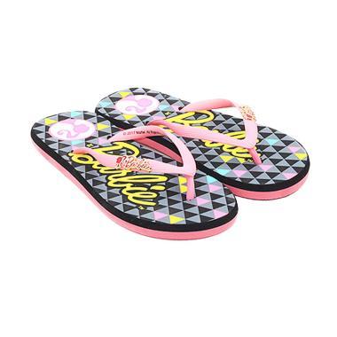 Ando Barbie 808 Sandal Jepit Wanita - Hitam Fushia