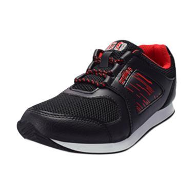 Ardiles Kids Hypersport Sepatu Sneakers Anak Laki-Laki - Hitam Merah